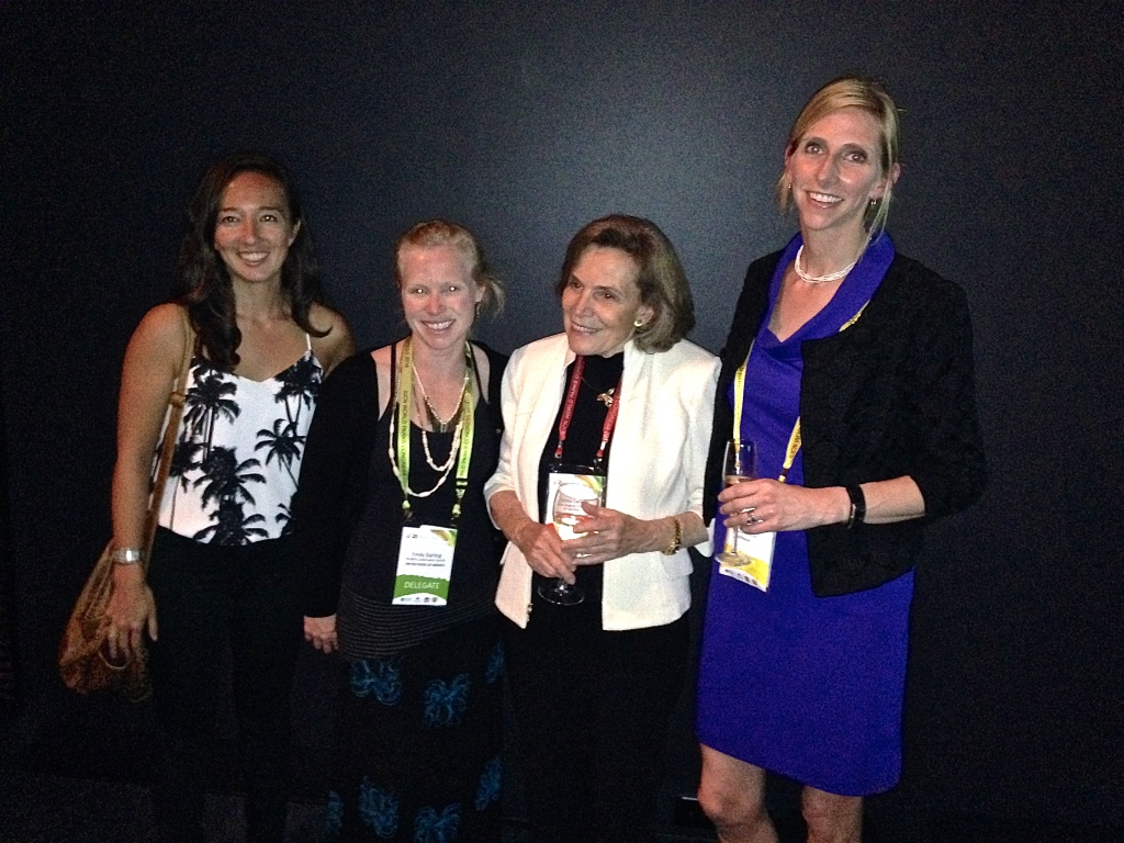 From left to right: Tara Whitty (Scripps Institution of Oceanography), Emily Darling (UNC-Chapel Hill), Sylvia Earle, and Elizabeth Madin.